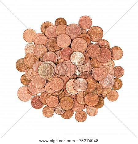 Group Of Coins Isolated