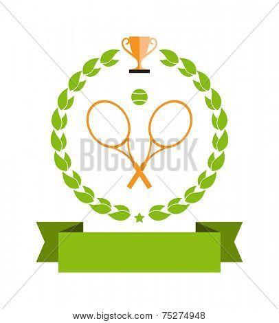 tennis emblem banner - design element