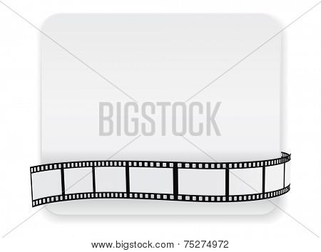 card with film roll strip - abstract design