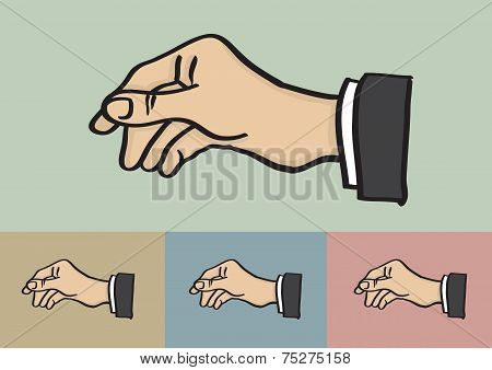 Reaching Hand Gesture Isolated On Different Background