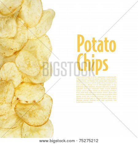 Potato Chips Food Isolated
