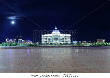 Ak Orda. The Official Residence Of The President Of Kazakhstan In Astana.