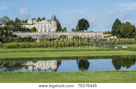 Chateau Lafite-rothschild With Pond Saint-estephe