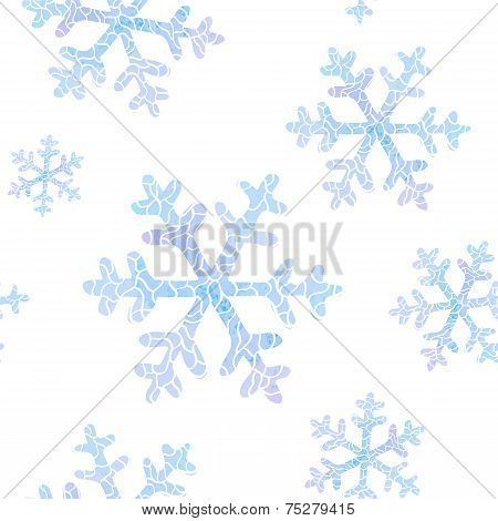 seamless pattern with falling snowflakes