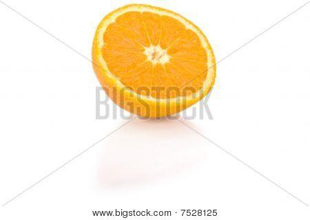 Sliced orange isolated