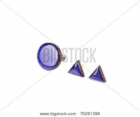 Handmade aquamarine earrings.