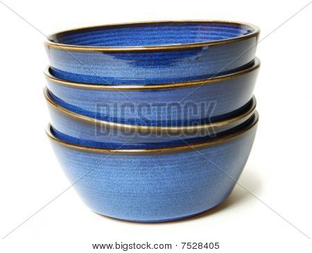 Stack Of Blue Bowls