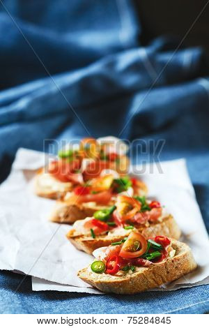 Italian Antipasti Food Bruschetta