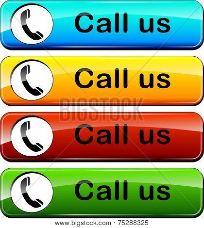 Call Us Colorful Buttons