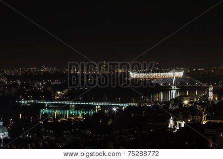 River Wistula At Night