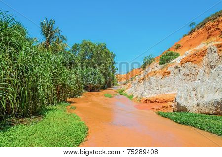 Red River And Colored Sandstone