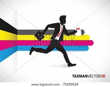 business man on cmyk background