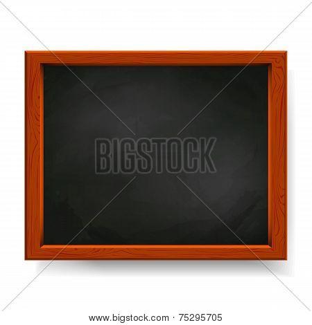 Black Vector Blackboard Isolated On White