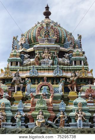 Tower On Top Of Murugan Shrine At Thiruvannamalai Temple.