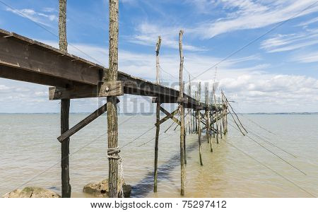 Jetty For Fishing And Angling In Gironde