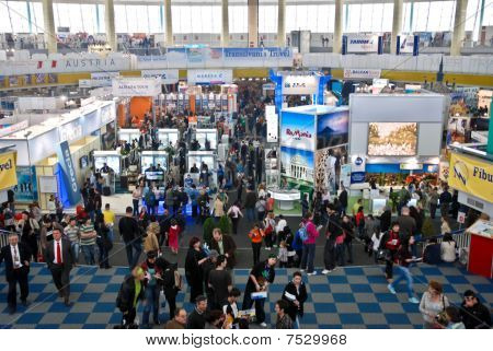 People at the International Tourism Fair