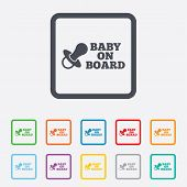 image of nipple  - Baby on board sign icon - JPG