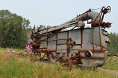 image of threshing  - Hubble Homestead