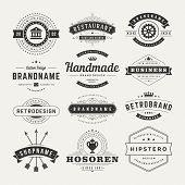 picture of signs  - Retro Vintage Insignias or Logotypes set - JPG