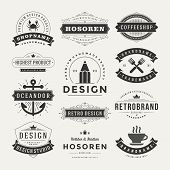 stock photo of manufacturing  - Retro Vintage Insignias or Logotypes set - JPG