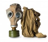 stock photo of respiration  - Respirator with bag isolated on white background - JPG
