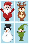 picture of christmas claus  - vector illustration - JPG