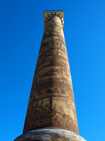 picture of coxcomb  - The Astoria Column Depicting the Histrory of the Region in Astoria Oregon USA - JPG