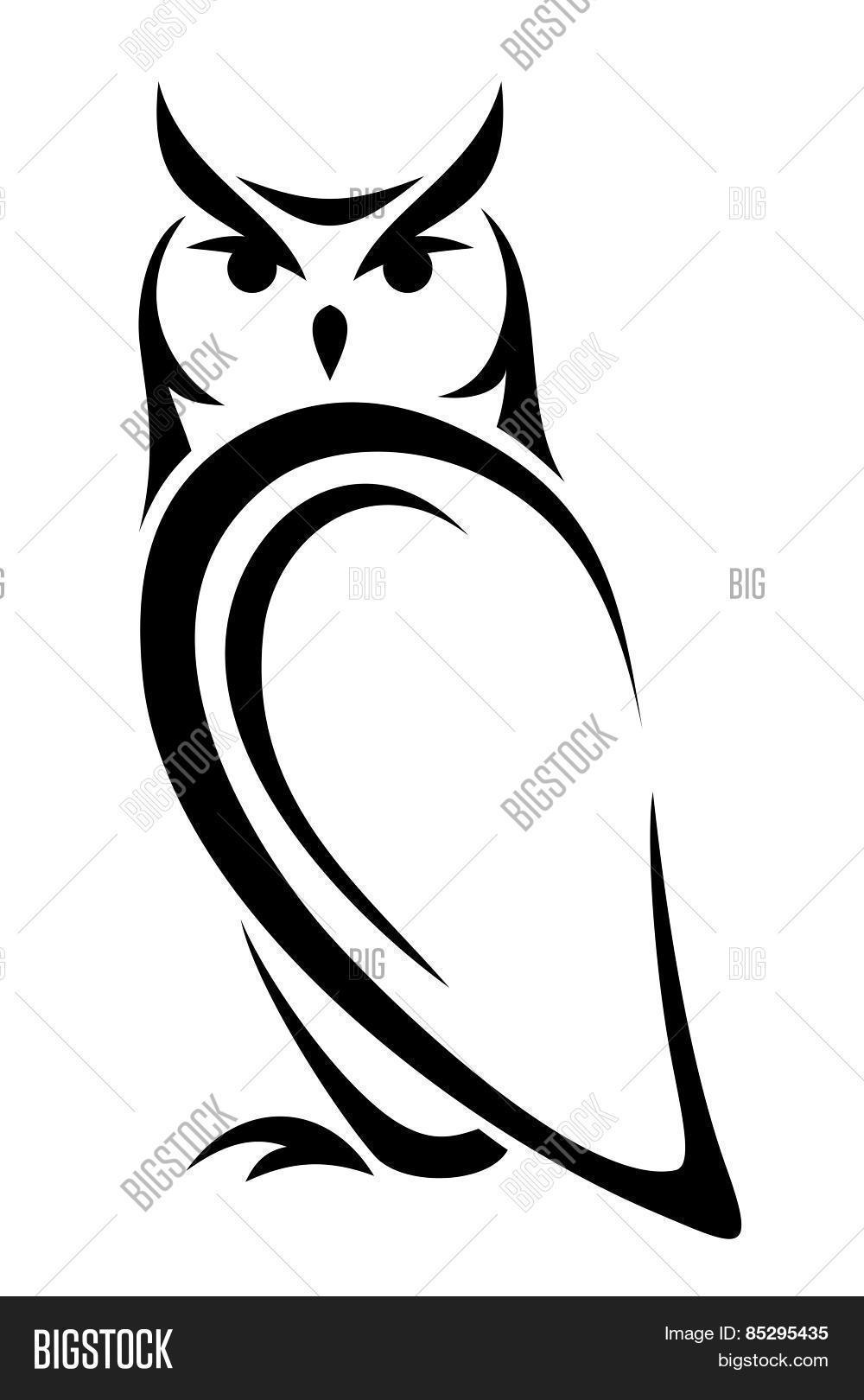 owl head silhouette vector
