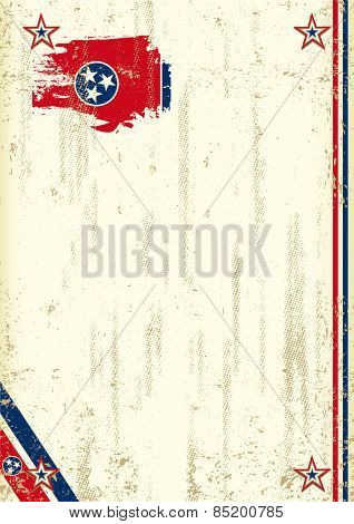 Tennessee retro background. A vintage background with a flag of Tennessee and a texture for your advertising