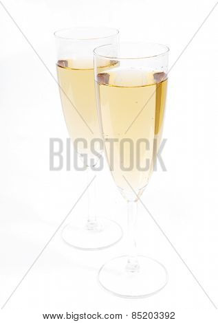 Celebration. Glass of champagne on the table