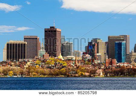 Boston, Massachusetts cityscape.