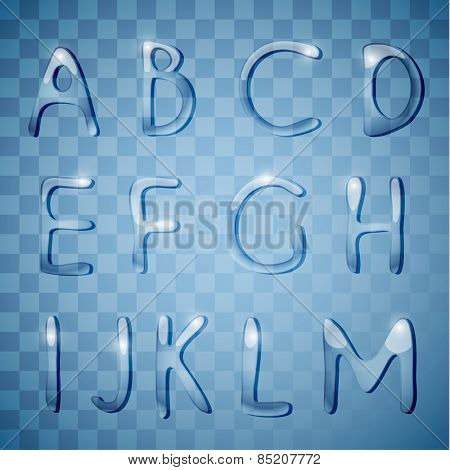 Glass alphabet letters collection - eps10