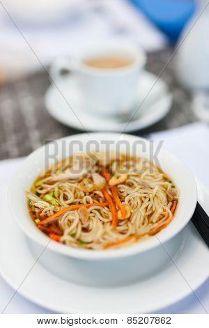 Delicious Ramen Japanese noodle soup dish