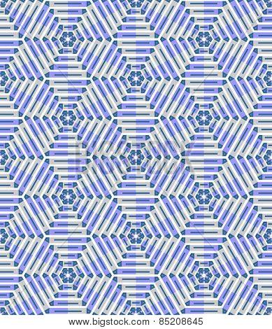Decorative hexagons and diamonds geometric pattern. Seamless texture. Vector art.