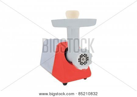 Electric meat grinder isolated on a white