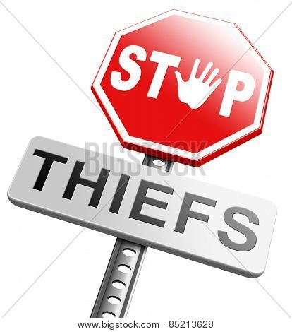 catch thieves stop theft no robbery or pick pocket thief arrest by police investigation or neighborhood watch prevention