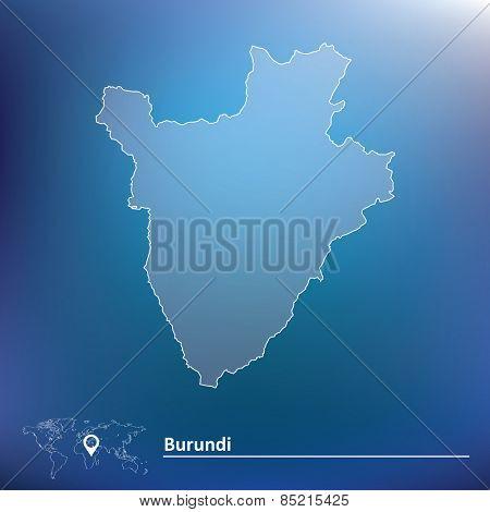 Map of Burundi - vector illustration