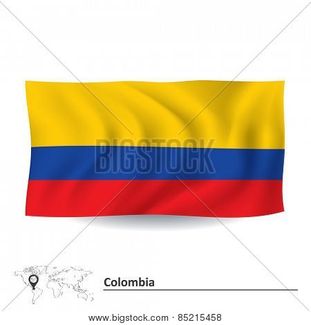 Flag of Colombia - vector illustration