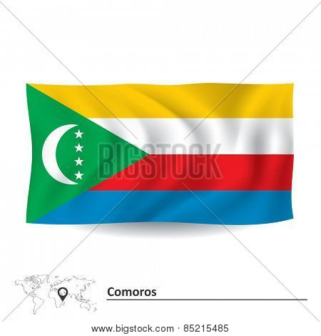 Flag of Comoros - vector illustration