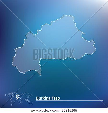 Map of Burkina Faso - vector illustration
