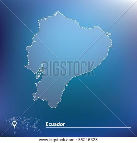 Map of Ecuador - vector illustration