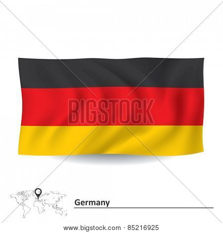 Flag of Germany - vector illustration