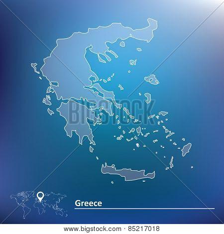 Map of Greece - vector illustration