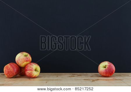 Panel With Five Apples.