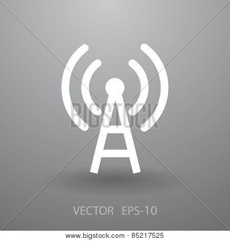 Flat icon of wifi