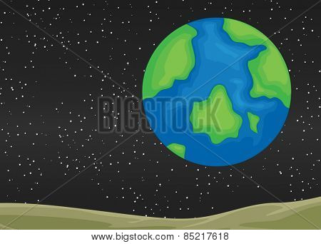View of planet earth from the space