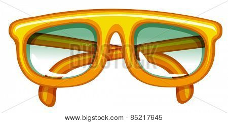 Close up hipster orange eyeglasses