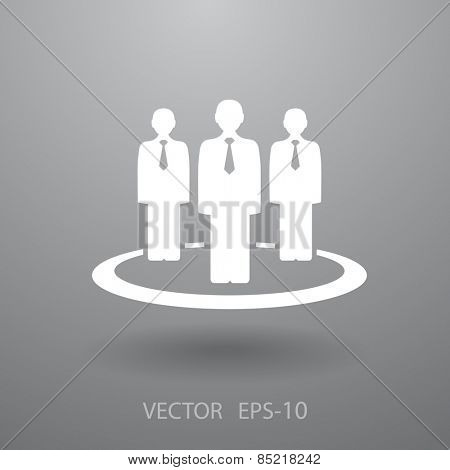 Flat icon of team work