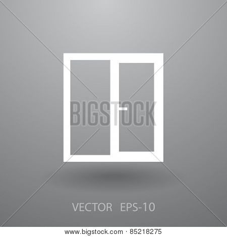 Window icon, vector illustration