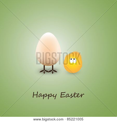Funny Chicken Eggs - Happy Easter Card